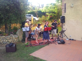 The Rock Chick Band in rehearsal