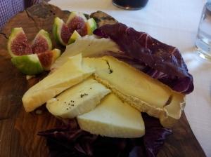 Seasonal figs and local Tuscan Cheeses Photo J Finnigan