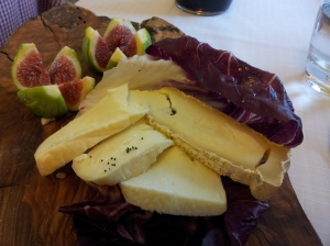 Seasonal figs and local Tuscan Cheeses Photo J Finnigan