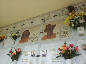 Giovana and Vittorio's memorial. Photo P Finnigan