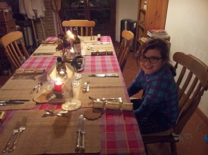 Granddaughter Tabby and Christmas Crackers photo P Finnigan