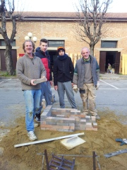 Terry Davies & his team prepare the foundations for the New Year Spettacolo. Photo  J Finnigan