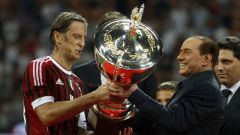 Sivio at AC Milan in happier times Photo Reuters/Stefano Relland