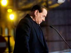 Silvio swallows the pill. Photo Indiatimes