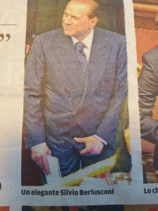 A crotchity moment for Silvio Photo Il Terreno