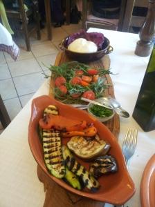 Buratta con Verdura Grilliata