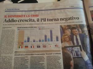 Zero growth figures for Italy. Il Terreno.