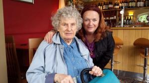 Me and my mumon her 90th birthday Photo Jane Stobbs