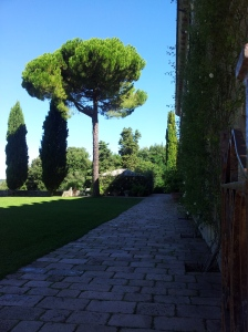 Lovely shady gardens at Pignano Photo J Finnigan