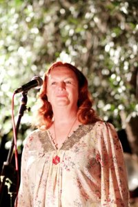 Me enjoying myself on lead vocals. Photo Chiara Benelle