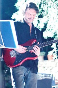 Stefano on Lead Guitar Photo Chiara Benelli