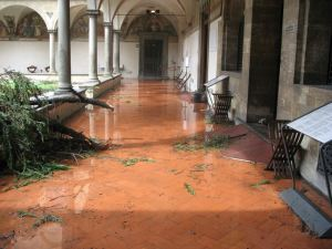 The Museum st San Marco in Florence after the storm. Photo The Florentine