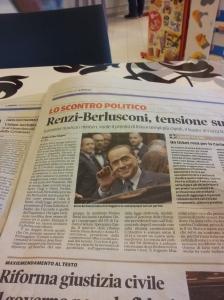 Silvio in the news. Photo J Finnigan