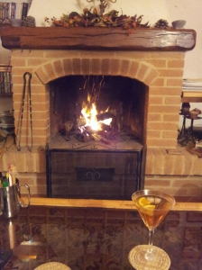 he all important wood fire and aperitivo. Photo J Finnigan
