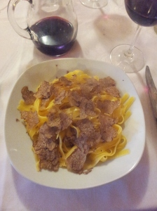 Gluten free pasta and white truffles photo J Finnigan