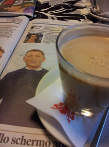 Coffee with Daniel Craig. Photo J Finnigan
