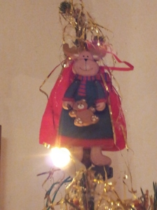 A happy Rudolf at the top of our Christmas Tree Phot J Finnigan