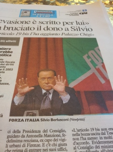 "Silvio ""I am a normal human being, look eight fingers and two thumbs!"