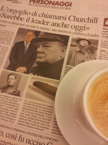 Coffee with Winston Churchill. Photo J Finnigan