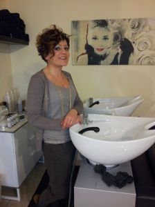 Sandra my lovely hairdresser at La Parrucchiera, Via Fabiani 1/D, Certaldo Tel 0039 3341217437