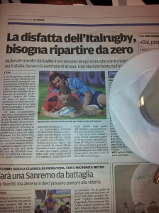 The terrible match for Italy against Wales. Photo J Finnigan