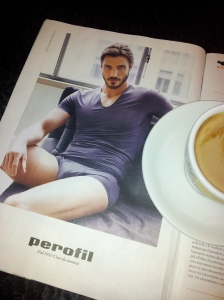 Coffee with Perofil Man. Phot J Finnigan