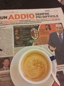 Silvio's difficult goodbye to AC Milan. Nazione Newspaper
