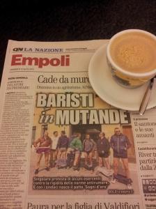 dropped trousers protest. La Nazione Newspaper