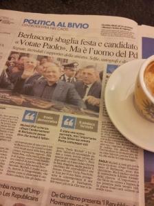 Sivio at the wrong rally! La Nazione newspaper.