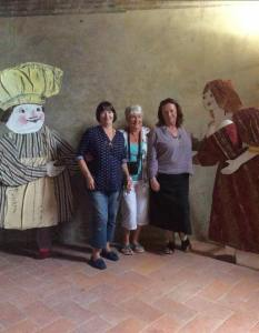 Penny, Hilary and me at Certaldo Alto. Photo J Stobbs