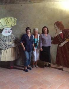 Penny, Hilary and me at Certaldo Alto. Photo J Stobbs