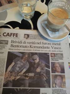 The great Vasco Rossi returns to the heavy metal stage at 63.  Rock on that man! Photo Il Terreno Newspaper