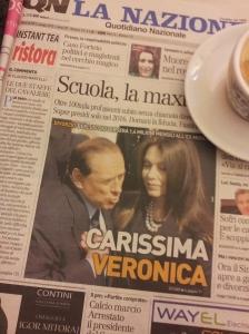 Silvio and ex-wife Veronica. La Nazione