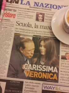 Silvio and ex-wife Veronica. La Nazione