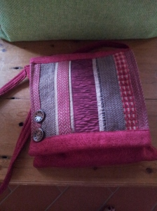 Beautiful hand crafted shoulder bag from Wells Saturday Market. Photo J Finnigan