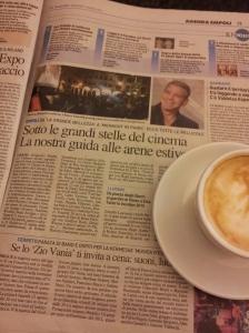 Empoli's Open air Cinema from 21 to 31 August. Photo La Nazione