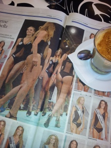 The bottom line at the final of Miss Toscana. La Nazione.