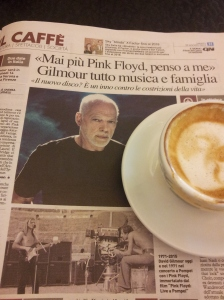 Stuart Gilmore of Pink Floyd, now and then. La nazione