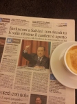 Silvio Berlusconi back in the news. La Nazione