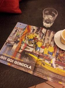 Gondola racing in Venice. La Nazione magazine
