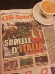 Italy's Tennis girls. La Nazione