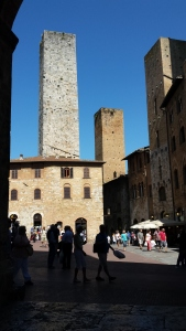 The towers of San Gimignano. Photo P Finnigan