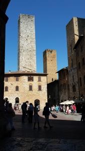 The towers of San Gimignano. Photo P Finnigan