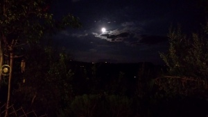 Fabulous moonscape view from our garden. Photo P Finnigan