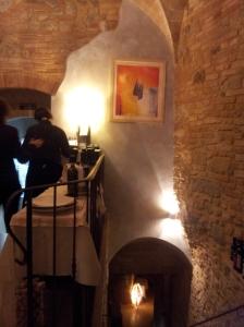 Inside Via San Martino 26 Ristorante. Photo J Finnigan
