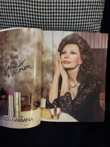 The beautiful eighty-one year old Sopia Loren. Dolce Gabbana Advert.