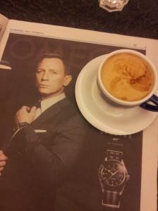 Daniel joins us for coffee. Phew! L Nazione.
