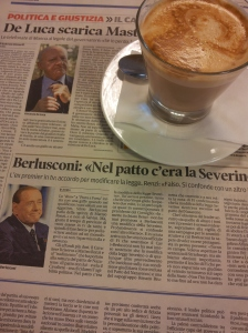 Silvio says Renzi is Falso. Photo la Nazione