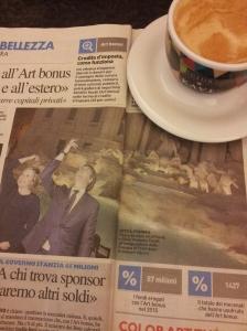 The Trevi Fountain re-opens in Rome. LaNnazione.