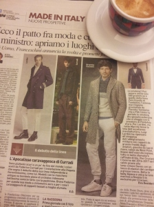 Made in Italy - mens fashion article. La Nazione